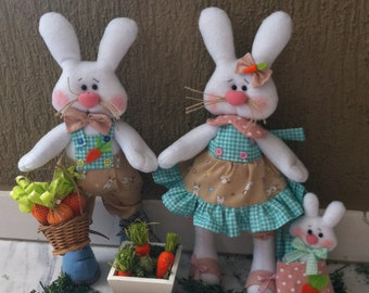 Cute easter rabbits PDF pattern