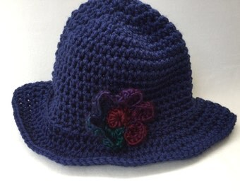 Crochet cloche,  girl hat, navy cloche hat, fashion, teen-adult, accessory