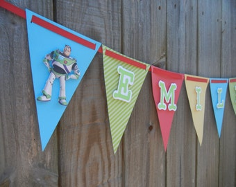 Toy Story Banner, Toy Story Birthday Banner, Woody and Buzz Lightyear Banner