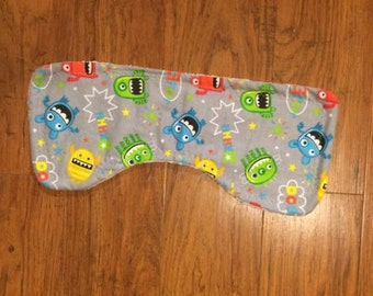 3 Monster Theme Burp Cloths