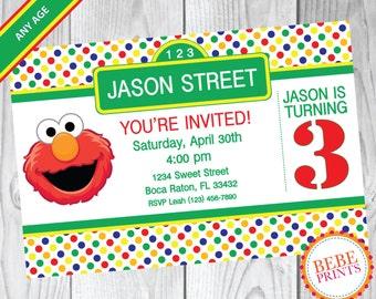 DIGITAL Elmo Sesame Street Invitation | Personalized Printable