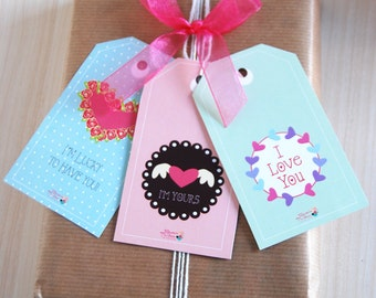 Tags and Gifts Boxes Sn Valentine day