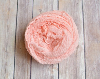 Newborn Cheesecloth Wrap (Peach)