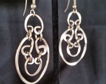 Unique Sterling Silver Link Earrings