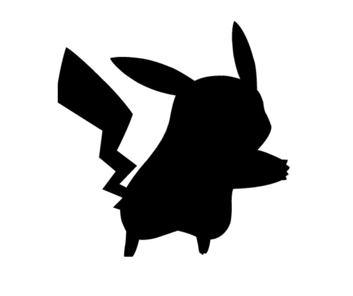 Pikachu stencil images galleries with for Black and white only