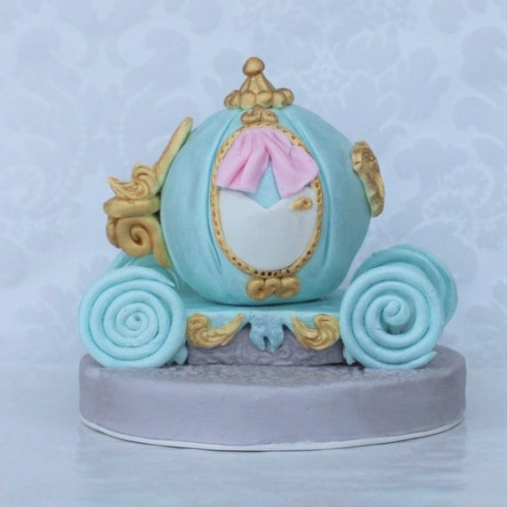 Fondant Princess Carriage Cake Topper.Cinderella by ...