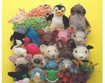 "Japanese Handicraft Book,""Animal crochet Gamaguchi purse accessories"",Handmade,DIY,Japan"