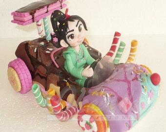 Vanellope cake topper cold porcelain / Center of cake / centerpiece