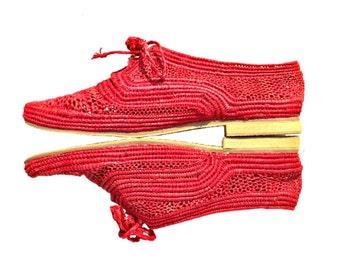 Women White Vegan Shoes Raffia