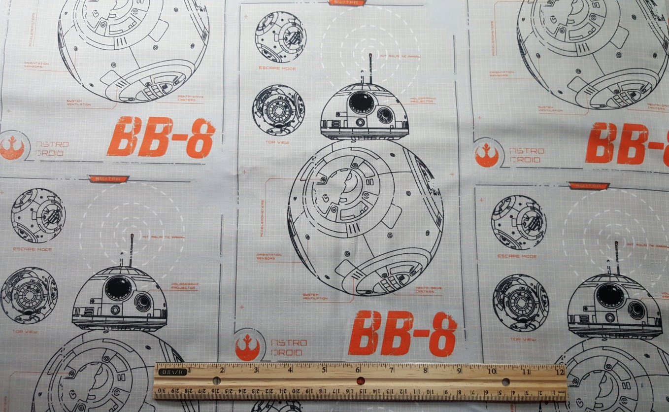 Star wars fabric bb8 fabric by the yard or fat quarter star for Star wars fabric