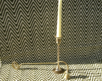 Tall Brass Candlestick // Vintage // Collectible // Gift // Decor