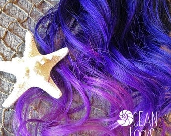 Ombre Hair, IN STOCK, Hair Extensions Clip In, Purple Hair, Pink Hair, Magenta Hair, Black Hair, Brown Hair, Dip Dye Hair, Mermaid Hair