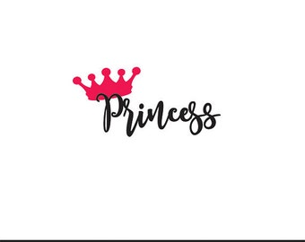 princess svg dxf file instant download silhouette cameo cricut clip art