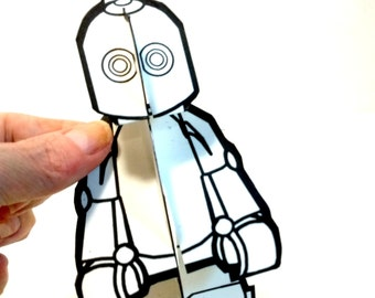 Robot to Color Paper Doll - Printable Toy