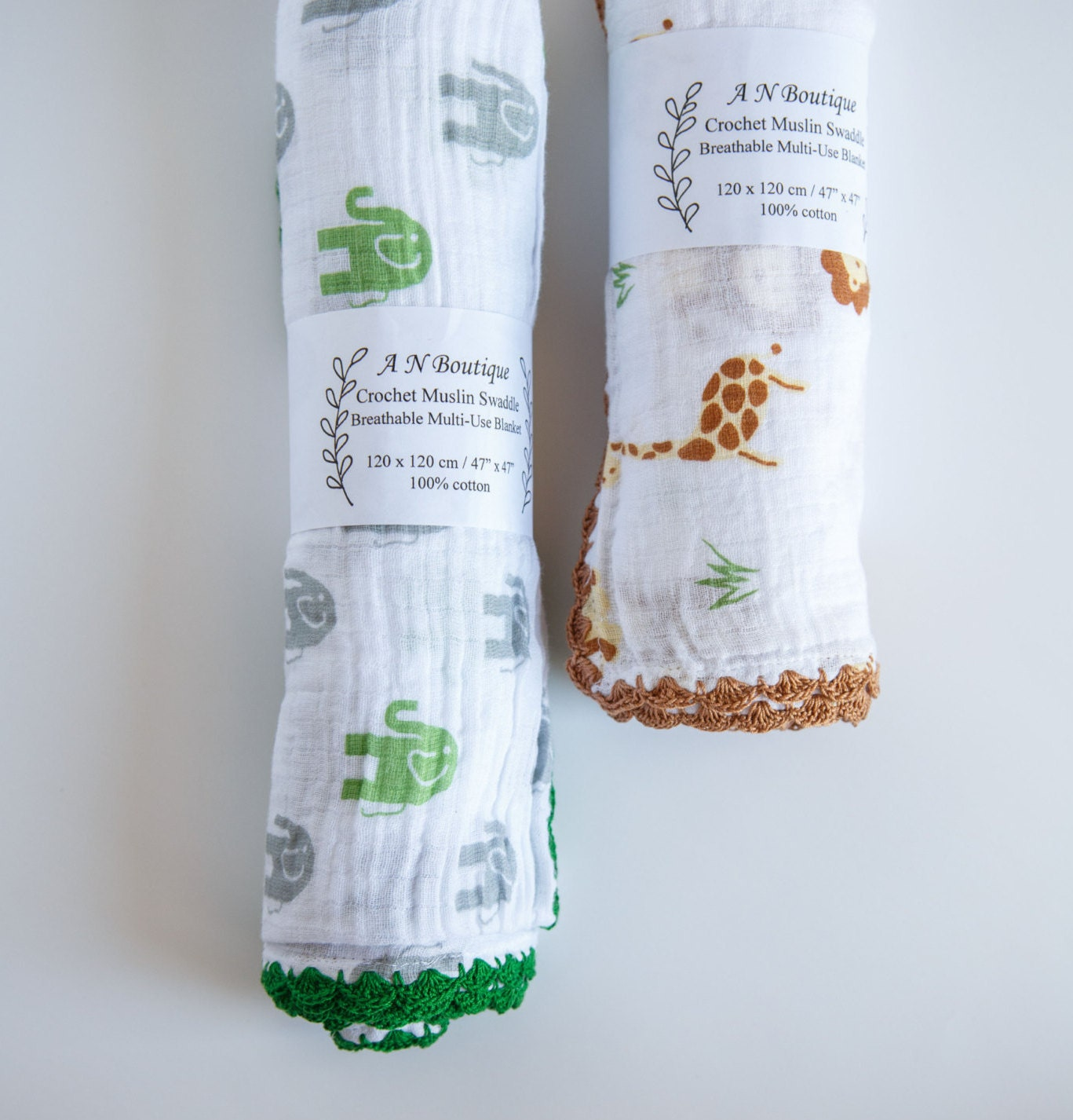 Crochet Muslin Gauze Swaddle Blanket