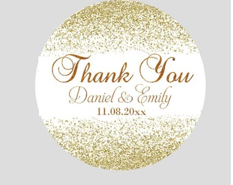 Wedding Stickers for Favors Personalized Stickers Wedding Favor Labels Thank You Stickers  Round Labels Wedding Stickers Thank You Labels