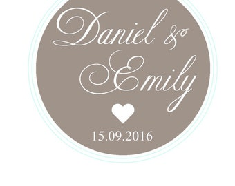 Personalized Stickers Thank You Stickers Wedding Stickers Wedding Favor Labels Personalized Favor Stickers Thank you Card Favor Bag Stickers