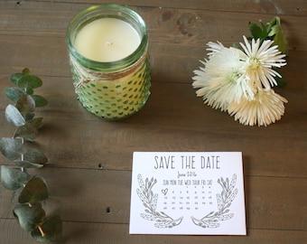 Boho Save The Date Postcards- Printable