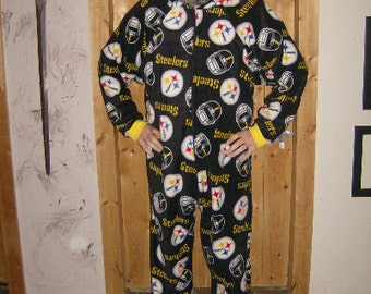 Adult footie jammies in licenced fleece of your choice