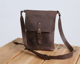 leather bag men, mens leather bag , brown leather bag, vintage leather bag, leather messenger bag ,shoulder bag, hipster bag