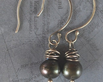 Classic Pearl Earrings - Freshwater cultured pearls and sterling silver