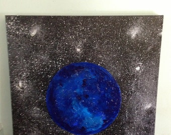 Acrylic Blue Moon Painting