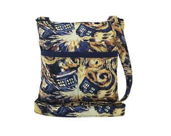 Doctor Who Exploding Tardis Crossbody Bag // Sling Bag // Crossbody Purse // Shoulder Bag // Hipster