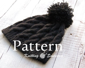 Knitting Hat PATTERN, Knitting PATTERN, Knitting Pattern for women, Knit beanie Pattern Knitting hat pattern for men, pattern digital  - PDF