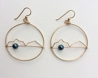 Gold Filled Mokulua Earrings
