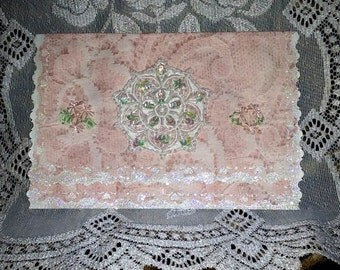 Greeting Card Shabby Chic Victorian Lace Wedding Mother's Day Birthday (blank so you can use it for any occasion) FREE SHIPPING to USA only