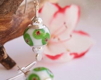Beads Pandora martillada-hecho sterling silver handmade earrings