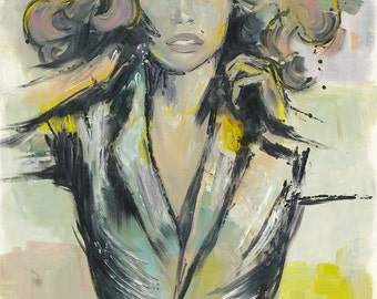 Print of the original oil painting, fine art print, Raquel