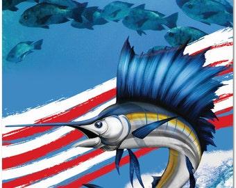 American Fishing Cornhole Wrap Bag Toss Decal Baggo Skin Sticker Wraps