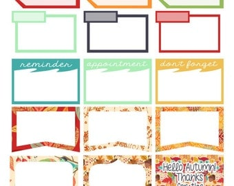 Planner Stickers- Modern Autumn: Box Set (PB3)