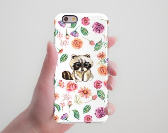 Raccoon Animal Phone Case to Samsung Galaxy Note 5 Case Galaxy S8 Case Personalized Case iPhone 6 Plus Case iPhone 7 6S Plus Case iPhone 7