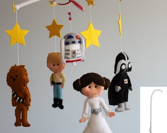 Star Wars Felt Mobile, Baby Felt Mobile,Nursery Star Wars, Kids Playroom Decor Star Wars, Star Wars, Kids, Gift