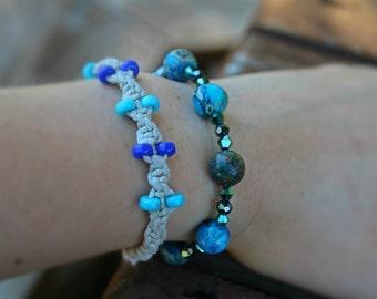Earth bracelet | Vivid blue bracelet | Blue beaded bracelet | Earth beads | Blue bracelet | Elastic bracelet | Blue stretch bracelet