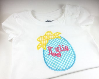 Personalized Easter Egg Shirt, Monogrammed Easter Egg Shirt, Embroidered Easter Egg Shirt, Girl Easter Egg Shirt