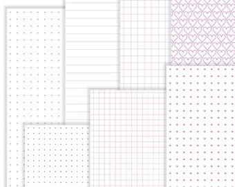 Printable Grids and Lines: Fuchsia