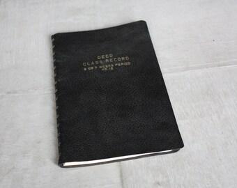 Vintage Deco Class Record Book No. 12