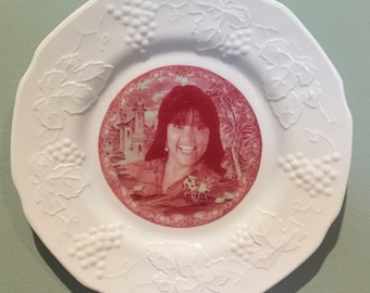 Jackee in Red Toile - Decorative Plate