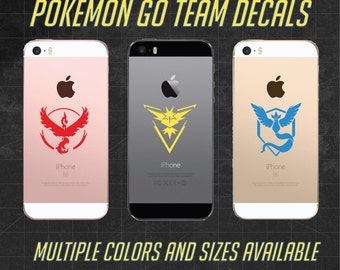 Pokémon Go Team Vinyl Decals - Pokemon - Team Instinct, Team Mystic, Team Valor - Phone and Tablet Decals, Multiple Sizes and Colors