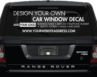 Car Window Decal - Design Your Own - Custom Made Personalized Car Window Decal -  Create Your Own Car Window Stickers