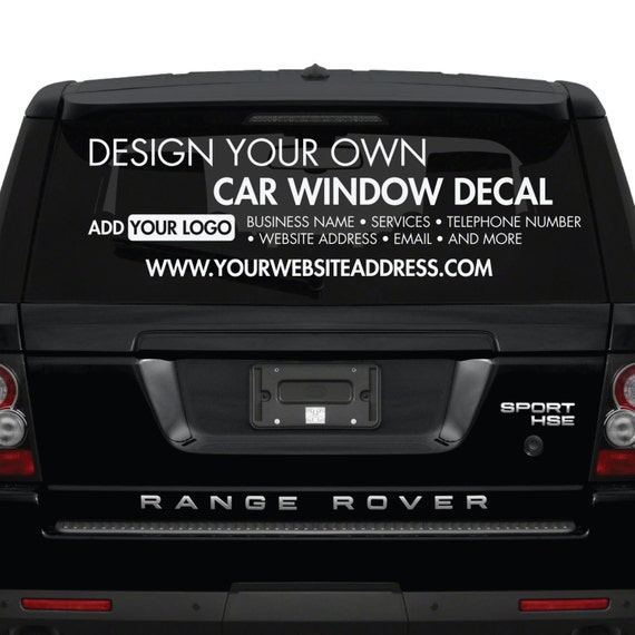 Car Window Stickers Design Your Own Custom by