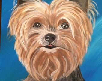 Custom acrylic pet portrait - 11x14