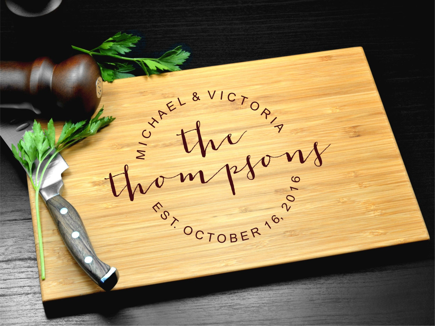 Wedding Gift Ideas For Close Friends: Custom Cutting Board-Engraved Cutting Board Personalized