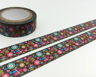 cute flower tape 5M  lovely flower washi tape blossom florist blossom flower sticker tape flower diary planner scrapbook deco masking tape