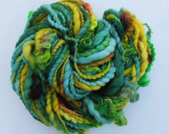 Handspun wool art yarn - Festive