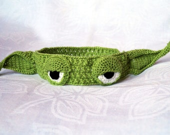 Yoda Headband, Crochet Pattern, PDF, Headband Pattern, Geeky Gifts, Star Wars, Amigurumi Pattern, Baby Headband, Yoda Costume, Yoda Hat