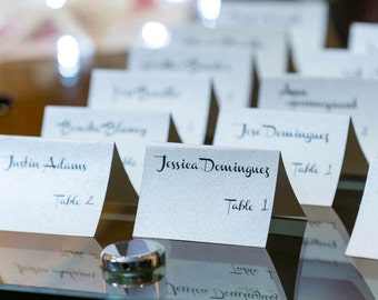 """Wedding Place Cards - 3 1/2"""" x 2"""" PRINTABLE CUSTOM scripted cards for Weddings or special events"""